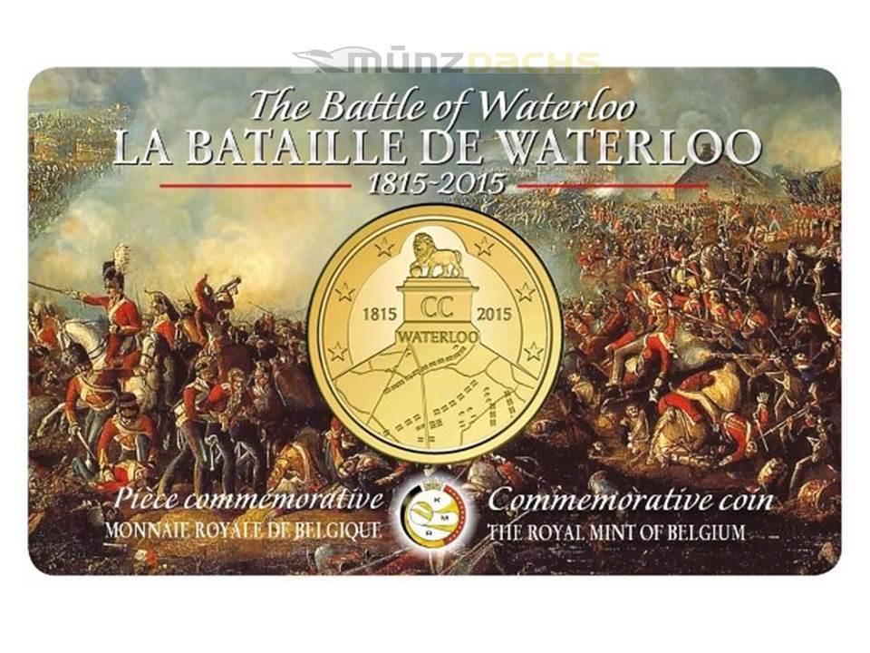 25 Euro 200 Jahre Schlacht Von Waterloo Belgien Coincard 2015