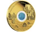100 $ Dollar Treasures of the World Nordamerika Türkis Australien 1 oz Gold PP 2015