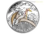 10 $ Dollar Day of the Dinosaurs Terror of the Sky Kanada 1/2 oz Silber PP 2016