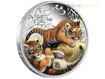 50 Cents The Cubs Tiger Tuvalu 1/2 oz Silber 2016 PP **