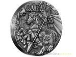 2 $ Dollar Norse Gods Odin High Relief Tuvalu 2 oz Silber 2016