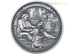 5 $ Dollar Journeys of Discovery Charles Darwin Niue Island 2 oz Silber 2016 **