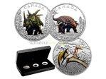 3 x 10 $ Dollar Day of the Dinosaurs Terror of the Sky Komplettbox Kanada 1/2 oz Silber PP 2016