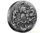 2 $ Dollar Chinese Ancient Mythical Creatures Fabelwesen High Relief Tuvalu 2 oz Silber 2016 **