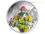 15 $ Dollar National Heroes Firefighters Kanada Silber PP 2016