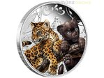 50 Cents The Cubs Jaguar Tuvalu 1/2 oz Silber 2016 PP **