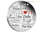 2 $ Dollar Language of Love Sprache der Liebe Tuvalu 2 oz Silber PP 2016
