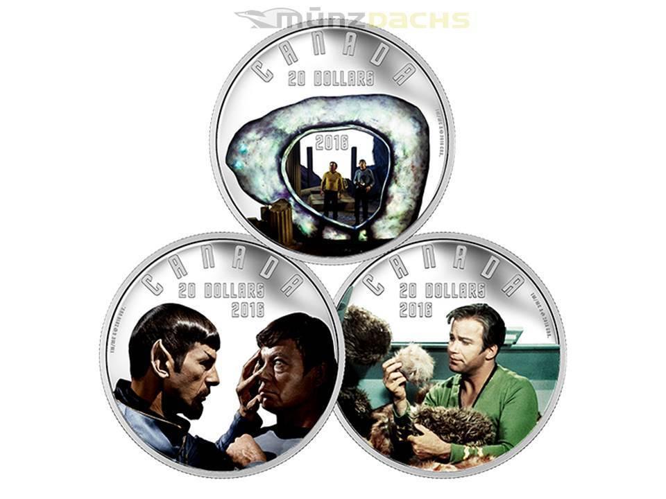 3 X 20 Dollar 50 Jahre Iconic Star Trek Scenes Uss Enterprise