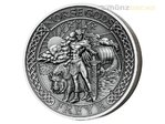 10 $ Dollar Norse Gods - Freyr Ultra High Relief Cook Islands 2 oz Silber 2016