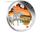 1 $ Dollar The Land Down Under Australian Stockman Australien 1 oz Silber 2014