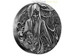 2 $ Dollar Norse Gods Loki High Relief Tuvalu 2 oz Silber 2016