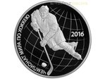 3 Rubel Ice Hockey Eishockey WM Russland 1 oz Silber PP 2016