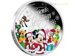 1 $ Dollar Disney Weihnachten Season's Greetings Niue Island 1/2 oz Silber 2016 **