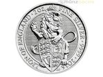 5 Pfund Pounds The Queen's Beasts The Lion Löwe Großbritannien 2 oz Silber 2016 **