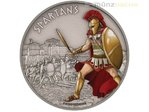 2 $ Dollar Warriors of History Spartaner Spartans Niue Island 1 oz Silber 2016 **