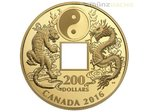 200 $ Dollar Tiger and Dragon Yin & Yang Kanada Gold PP 2016