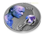 2 $ Dollar Artificial Intelligence Code of the Future High Relief Niue Island 2 oz Silber 2016