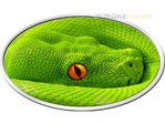 2 $ Dollar Grüner Baumpython Green Tree Python XL-Ultra-High Relief Niue Island 1 oz Silber 2016 **