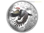20 $ Dollar Migratory Birds Convention Pileated Woodpecker 1 oz Silber PP 2017 **