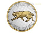 25 Cents Big Coin Series Alex Colville Cougar Puma Kanada 5 oz Silber PP 2017 **