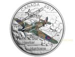 20 $ Dollar Aircraft of Second World War Hawker Hurricane Kanada 1 oz Silber PP 2017 **