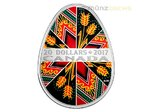 20 $ Dollar Traditional Ukrainian Egg Pysanka Kanada 1 oz Silber PP 2017