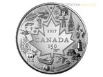 3 $ Dollar Heart of Our Nation Kanada 1/4 oz Silber 2017 **