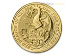 25 Pfund Pounds The Queen's Beasts Red Dragon of Wales Großbritannien 1/4 oz Gold 2017