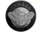 20 $ Dollar Nocturnal by Nature Barn Owl Schleiereule Kanada 1 oz Silber PP 2017 **