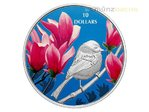 10 $ Dollar Birds Among Nature's Colours Chickadee Meise Kanada 1/2 oz Silber PP 2017 **