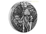2 $ Dollar Norse Goddesses Freya High Relief Tuvalu 2 oz Silber 2017 **