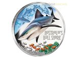 1 $ Dollar Deadly & Dangerous Bullenhai Bull Shark Tuvalu 1 oz Silber PP 2017 **