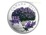 15 $ Dollar Celebration of Spring Lilac Blossoms Flieder Kanada Silber PP 2017 **