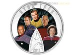 30 $ Dollar Star Trek Enterprise Five 5 Captains Kanada 2 oz Silber PP 2017
