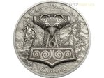 10 $ Dollar Mythology - Thor's Hammer Mjöllnir Ultra High Relief Cook Islands 2 oz Silber 2017 **