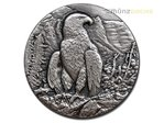 2 $ Dollar Swiss Wildlife Golden Eagle Steinadler High Relief Niue Island 1 oz Silber 2016 **