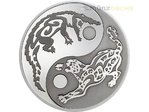 5 $ Dollar Predator & Prey Crocodile & Jaguar  Krokodil & Jaguar Cook Islands 1 oz Silber PP 2017 **