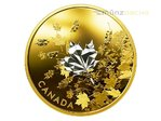 50 $ Dollar Whispering Maple Leaf Leaves Kanada 3 oz Silber PP vergoldet 2017 **