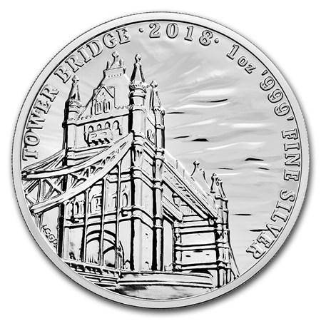 2 Pounds Pfund Landmarks of Britain Tower Bridge Großbritannien 1 oz Silber 2018 **