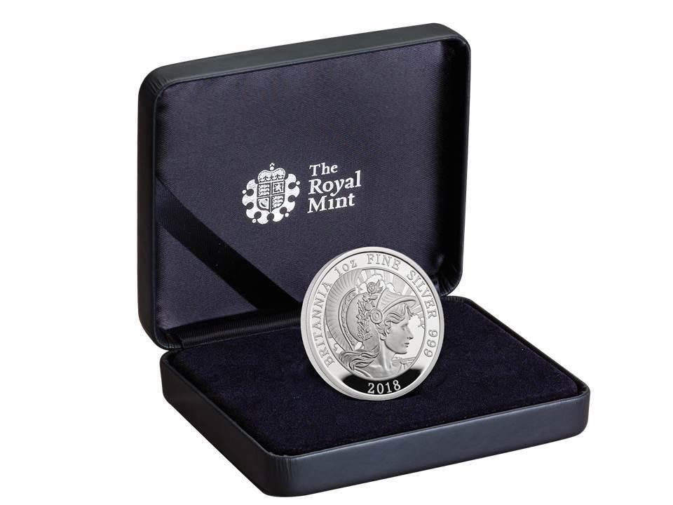 2 Pfund Pound Britannia Silver Proof Großbritannien Uk 1 Oz Silber