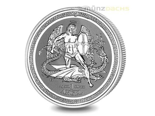 1 Angel Engel Isle of Man 1 oz Silber 2016 Reverse Proof
