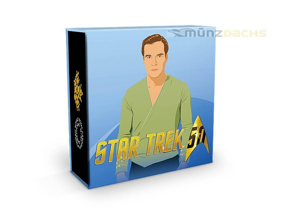 10 Dollar 50 Jahre Star Trek Captian James Kirk Uss Enterprise