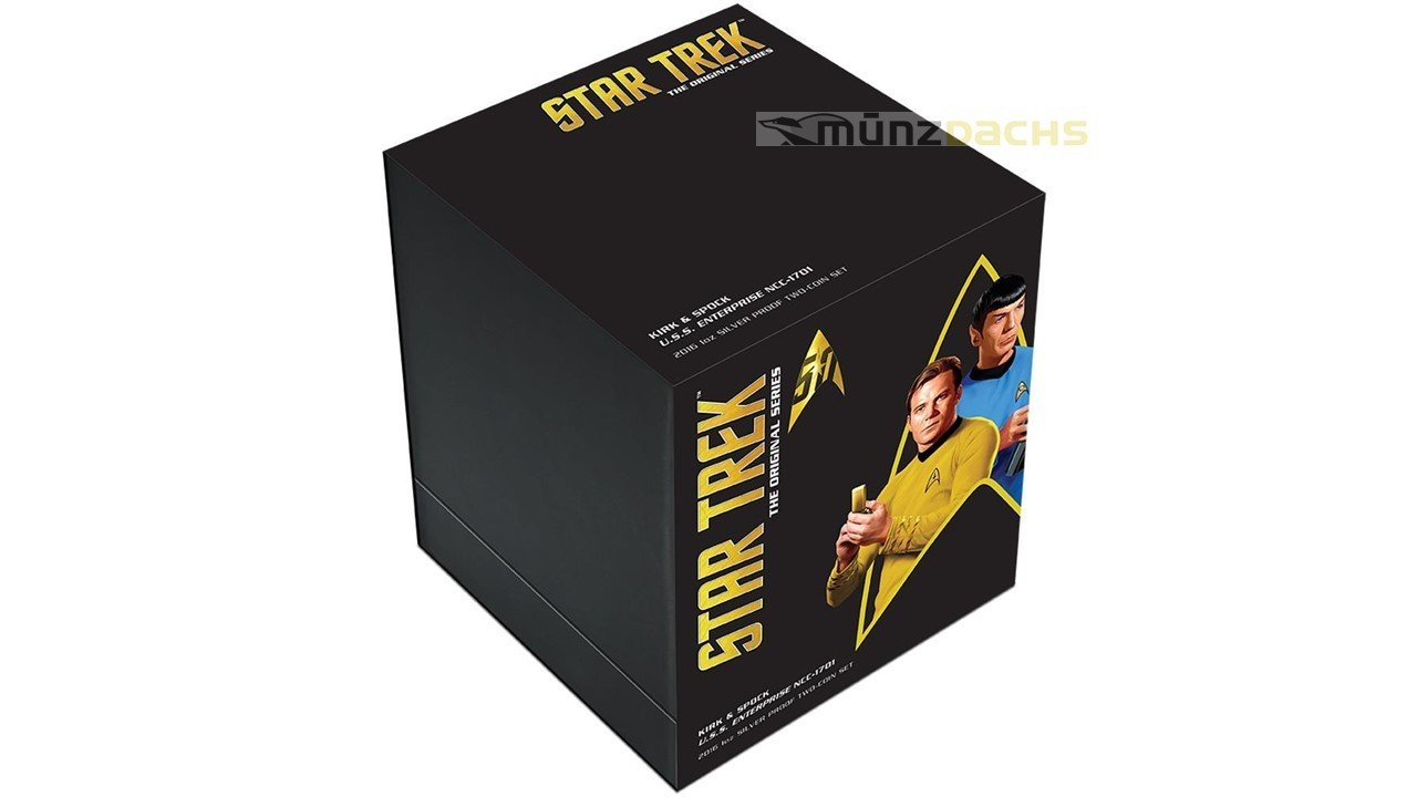 2 X 1 Dollar Star Trek Enterprise Kirk Spock Transporter Set