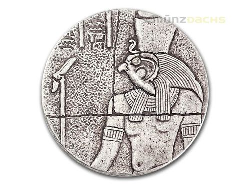 1000 Francs Egyptian Relic Series - Horus Tschad Chad 2 oz Silber 2016 **