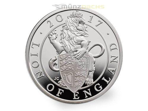 2 Pfund Pounds The Queens Beasts The Lion Löwe Großbritannien 1 Oz