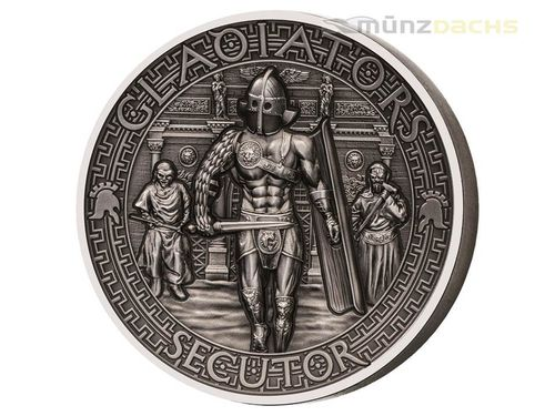 5 $ Dollar The Gladiators Secutor Ultra High Relief Solomon Islands 2 oz Silber 2017