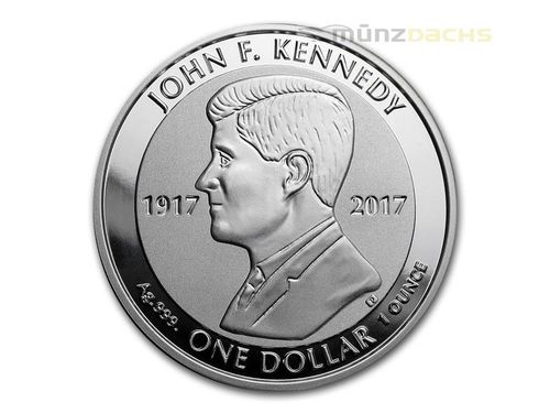 1 $ Dollar 100. Geburtstag John F. Kennedy British Virgin Islands 1 oz Silber 2017 Reverse Proof **