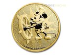 250 $ Dollar Disney Steamboat Willie Mickey Mouse Niue Island 1 oz Gold 2017