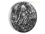 2 $ Dollar Norse Goddesses Hel High Relief Tuvalu 2 oz Silber 2017 **