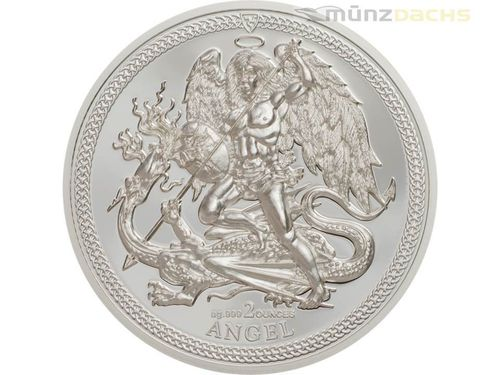 1 Angel Engel Isle of Man Piedfort 2 oz Silber PP 2017 **